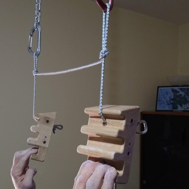 20 degree segment finger hang on a rope