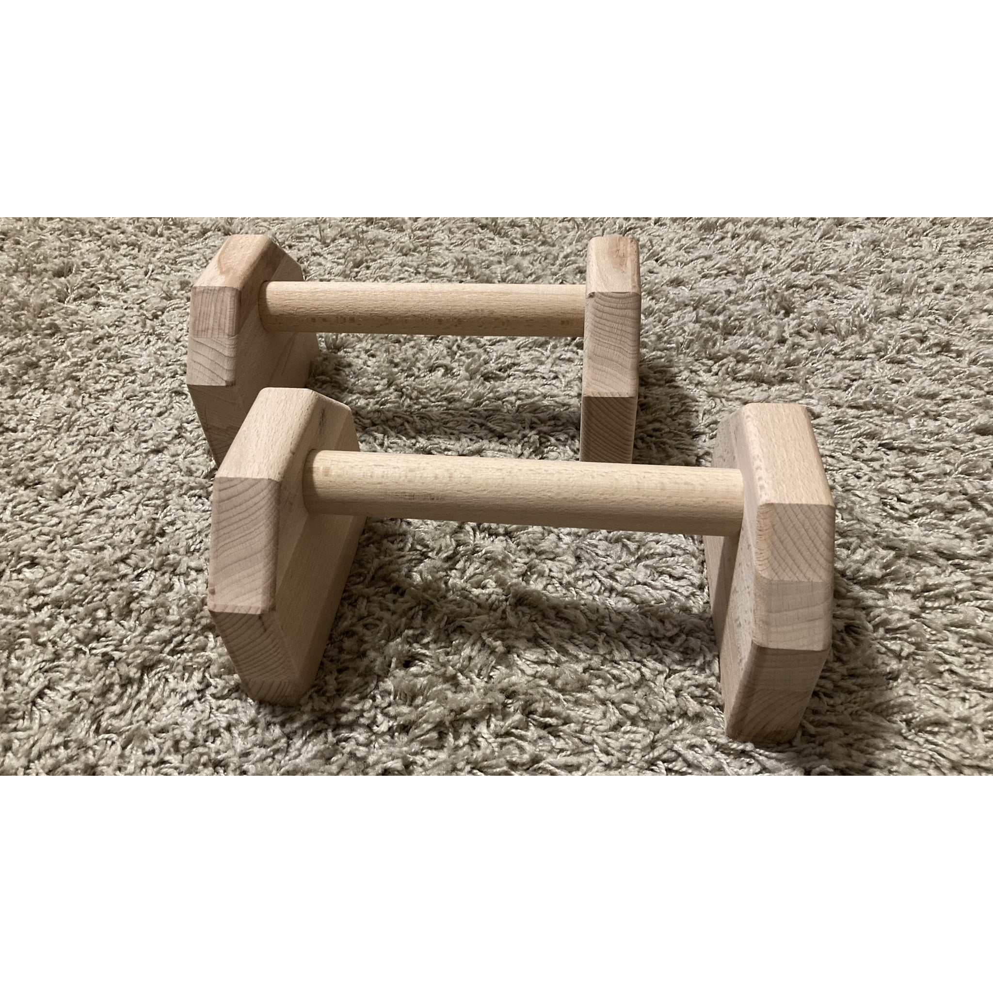 Portable Calisthenics Wood Parallettes 25cm (2)