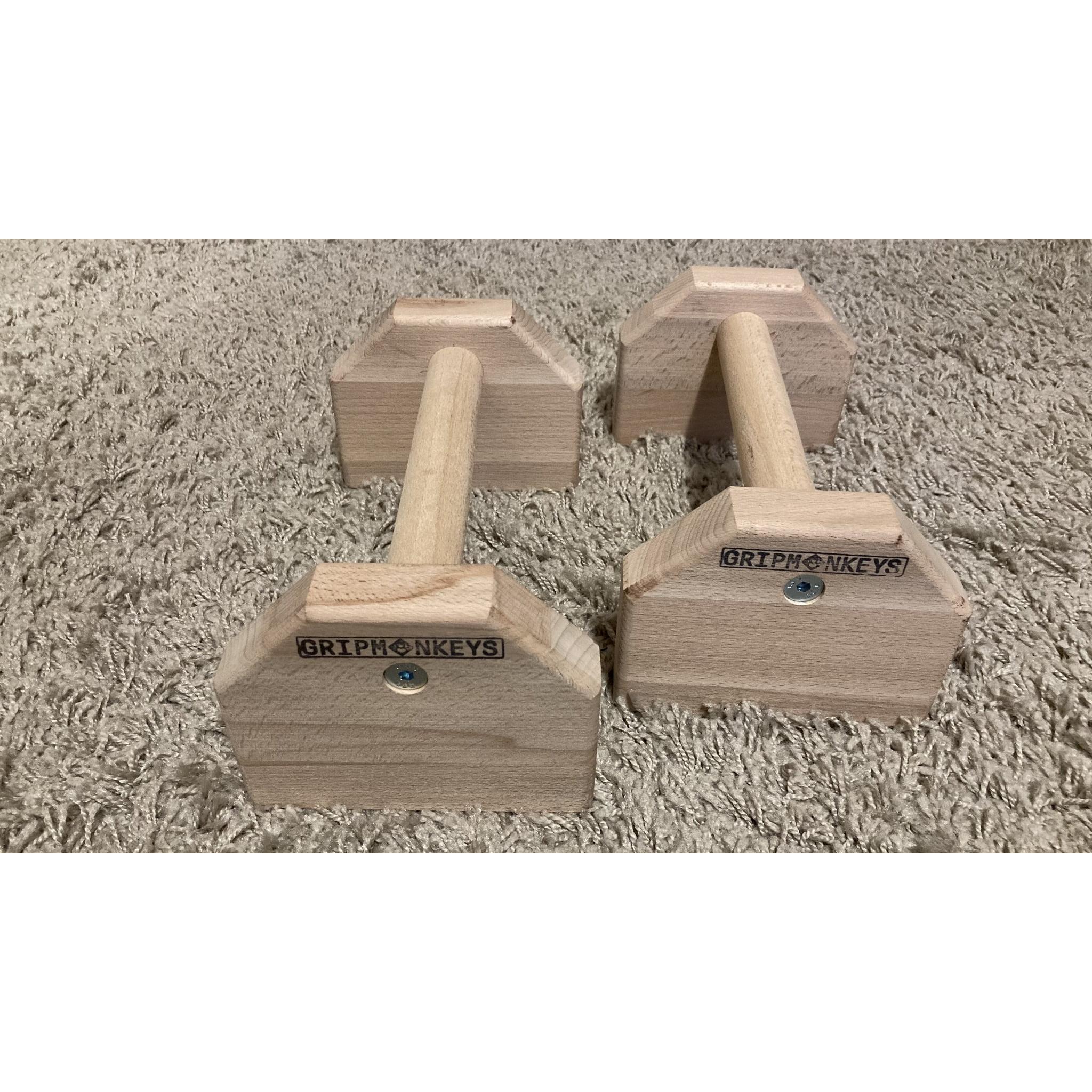Portable Calisthenics Wood Parallettes 25cm (3)