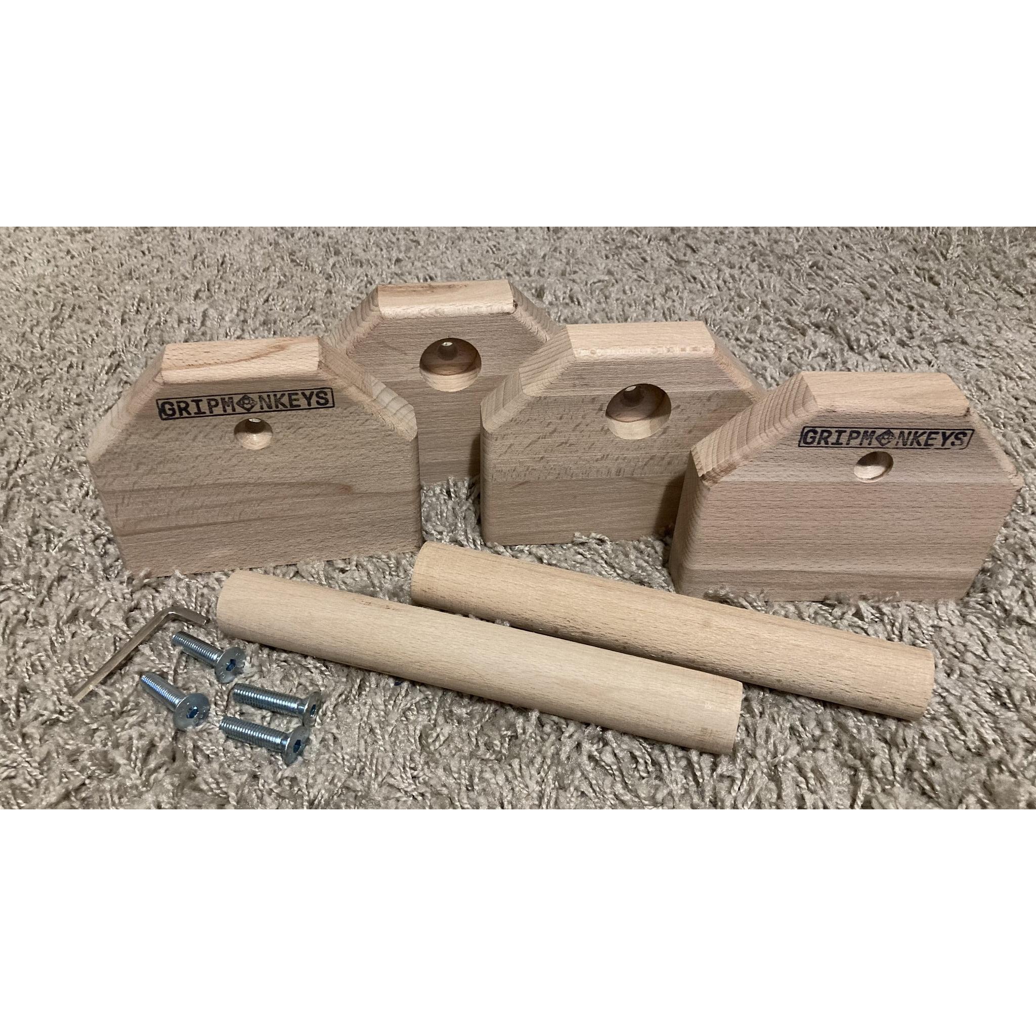 Portable Calisthenics Wood Parallettes 25cm (4)