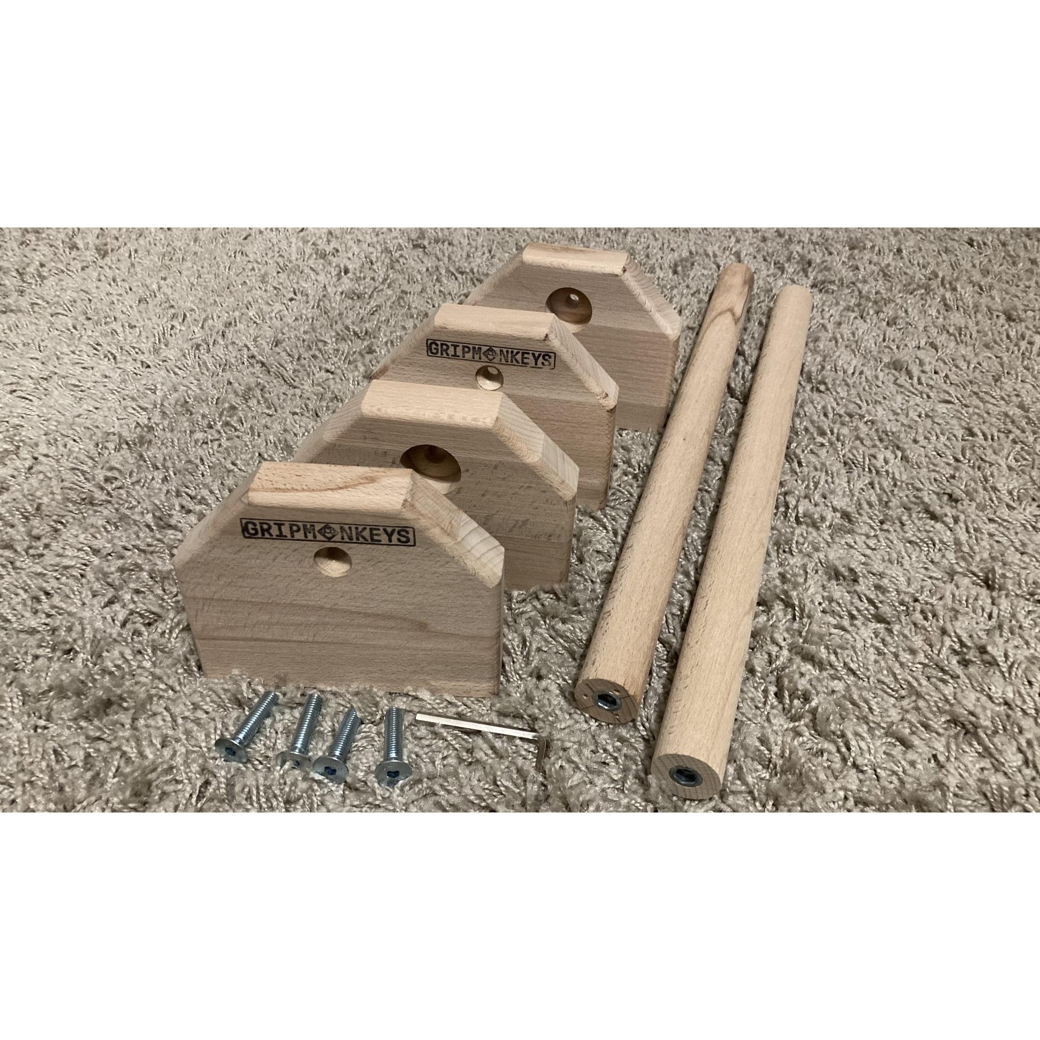 Portable Calisthenics Wood Parallettes 50cm (3)